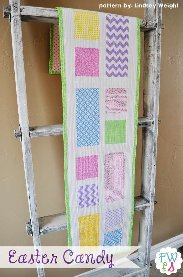 Free Quilted Easter Table Runner Pattern