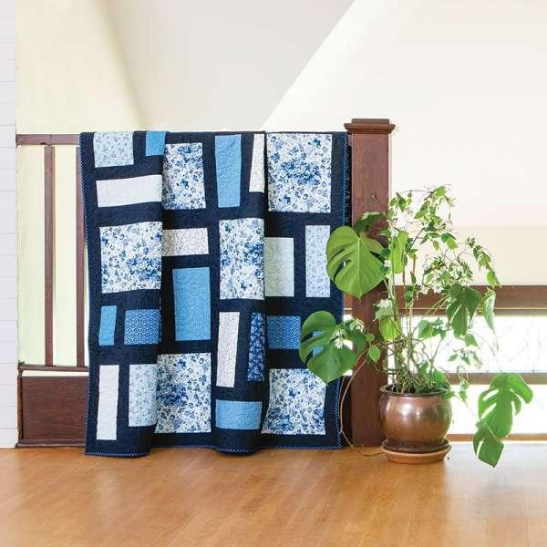 Easy Blue and White Quilt Kit