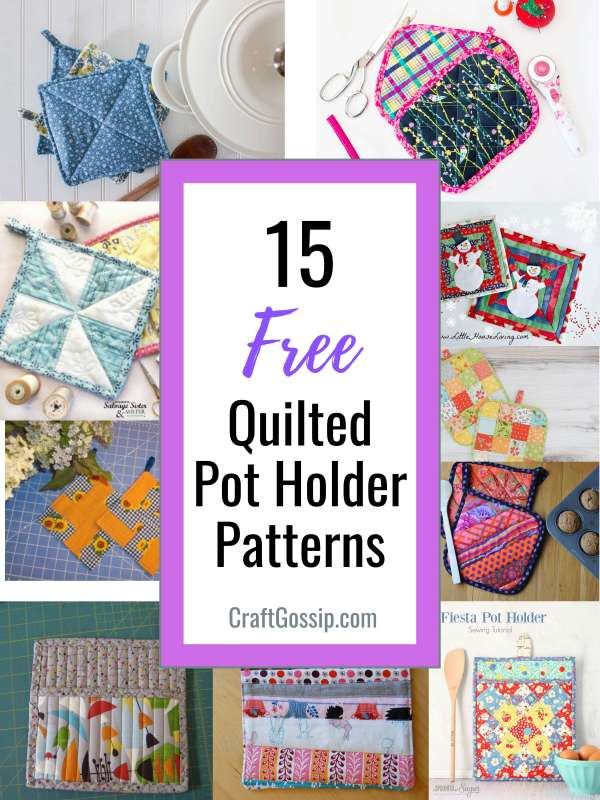 15 Free Quilted Pot Holder Patterns