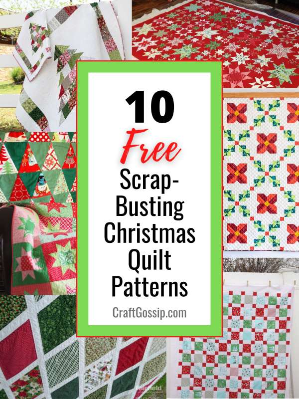 10 Free Scrap-Busting Christmas Quilt Patterns