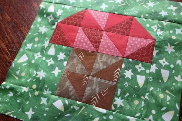 Mushroom Quilt Block Pattern
