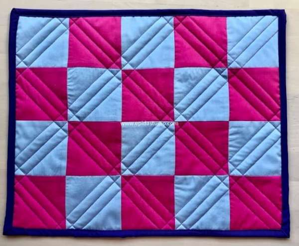 How to Machine Quilt Simple Straight Diagonal Lines